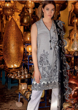 Rungrez Embroidered Lawn Unstitched 3 Piece Suit RNG19L 10 - Spring / Summer Collection