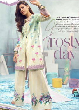 Rungrez Embroidered Lawn Unstitched 3 Piece Suit RNG20R FROSTY DAY D-6 - Luxury Collection