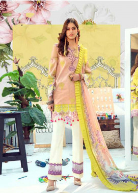 Rungrez Embroidered Lawn Unstitched 3 Piece Suit RNG20R MAGNOLIA D-3 - Luxury Collection