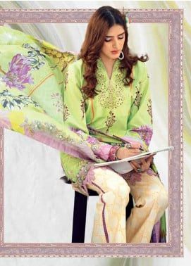 Rungrez Embroidered Lawn Unstitched 3 Piece Suit RNG20R VINEYARD D-2 - Luxury Collection