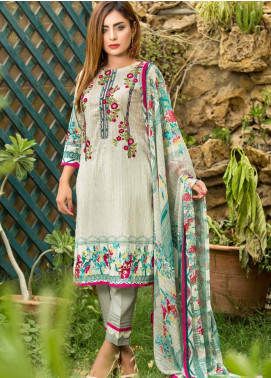 Ruqayyah Embroidered Lawn Unstitched 3 Piece Suit RQY19L 01A - Mid Summer Collection