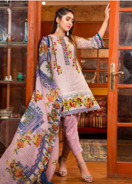 Ruqayyah Embroidered Lawn Unstitched 3 Piece Suit RQY19L 01B - Mid Summer Collection