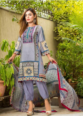 Ruqayyah Embroidered Lawn Unstitched 3 Piece Suit RQY19L 02A - Mid Summer Collection