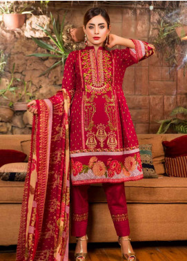 Ruqayyah Embroidered Lawn Unstitched 3 Piece Suit RQY19L 04A - Mid Summer Collection