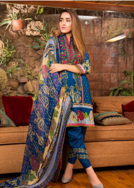 Ruqayyah Embroidered Lawn Unstitched 3 Piece Suit RQY19L 04B - Mid Summer Collection