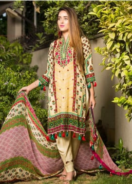 Ruqayyah Embroidered Lawn Unstitched 3 Piece Suit RQY19L 05A - Mid Summer Collection