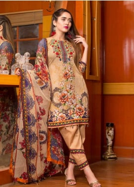Ruqayyah Embroidered Lawn Unstitched 3 Piece Suit RQY19L 06B - Mid Summer Collection