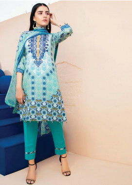 RUQAYYAH'S by MTF Embroidered Lawn Unstitched 3 Piece Suit R20MTF 2B - Spring / Summer Collection