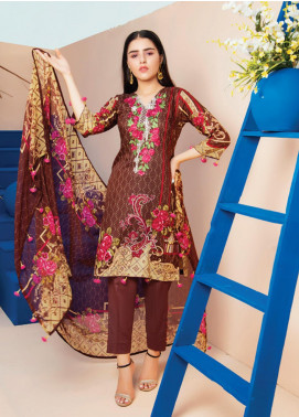 RUQAYYAH'S by MTF Embroidered Lawn Unstitched 3 Piece Suit R20MTF 3A - Spring / Summer Collection
