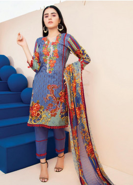 RUQAYYAH'S by MTF Embroidered Lawn Unstitched 3 Piece Suit R20MTF 3B - Spring / Summer Collection