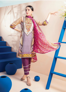 RUQAYYAH'S by MTF Embroidered Lawn Unstitched 3 Piece Suit R20MTF 4A - Spring / Summer Collection