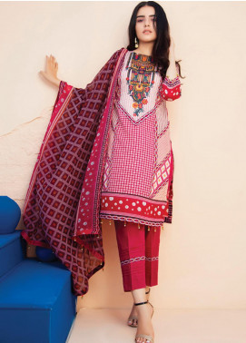 RUQAYYAH'S by MTF Embroidered Lawn Unstitched 3 Piece Suit R20MTF 4B - Spring / Summer Collection