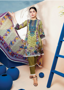 RUQAYYAH'S by MTF Embroidered Lawn Unstitched 3 Piece Suit R20MTF 5A - Spring / Summer Collection