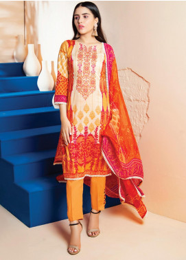 RUQAYYAH'S by MTF Embroidered Lawn Unstitched 3 Piece Suit R20MTF 6B - Spring / Summer Collection