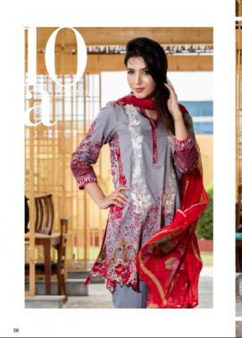 Zohan Textile Embroidered Lawn Unstitched 3 Piece Suit SAZ17L 10A