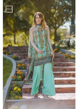Noor by Saadia Asad Embroidered Lawn Unstitched 3 Piece Suit SA17L 10A