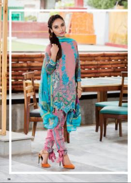 Zohan Textile Embroidered Lawn Unstitched 3 Piece Suit SAZ17L 10B