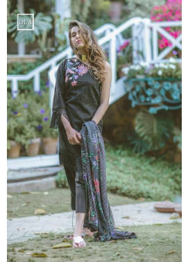 Noor by Saadia Asad Embroidered Lawn Unstitched 3 Piece Suit SA17L 1A