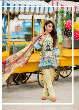 Zohan Textile Embroidered Lawn Unstitched 3 Piece Suit SAZ17L 3A