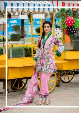 Zohan Textile Embroidered Lawn Unstitched 3 Piece Suit SAZ17L 3B