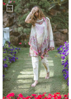 Noor by Saadia Asad Embroidered Lawn Unstitched 3 Piece Suit SA17L 4A