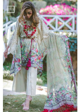 Noor by Saadia Asad Embroidered Lawn Unstitched 3 Piece Suit SA17L 5A