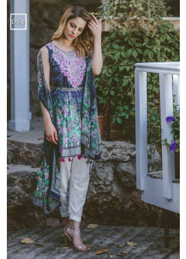 Noor by Saadia Asad Embroidered Lawn Unstitched 3 Piece Suit SA17L 5B