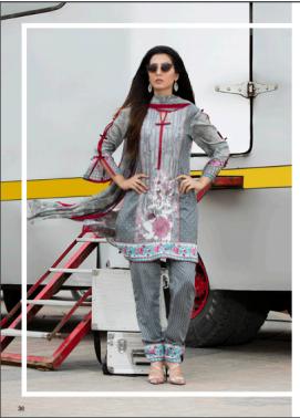 Zohan Textile Embroidered Lawn Unstitched 3 Piece Suit SAZ17L 6B
