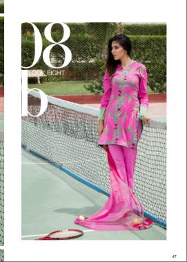 Zohan Textile Embroidered Lawn Unstitched 3 Piece Suit SAZ17L 8B