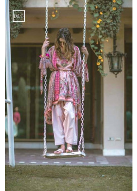 Noor by Saadia Asad Embroidered Lawn Unstitched 3 Piece Suit SA17L 8B