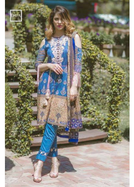 Noor by Saadia Asad Embroidered Lawn Unstitched 3 Piece Suit SA17L 9A