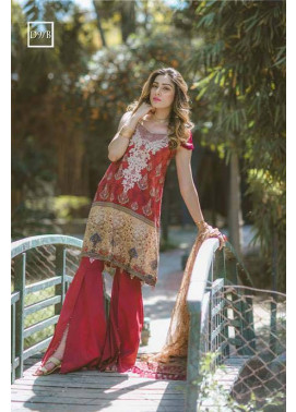 Noor by Saadia Asad Embroidered Lawn Unstitched 3 Piece Suit SA17L 9B