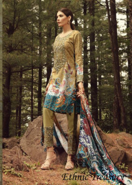 Noor by Saadia Asad Embroidered Khaddar Unstitched 3 Piece Suit SA17W 07