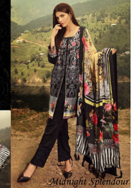 Noor by Saadia Asad Embroidered Marina Unstitched 3 Piece Suit SA17W 12