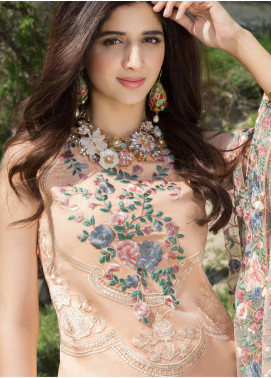 Saadia Asad Embroidered Lawn Unstitched 3 Piece Suit SA18F 01 - Eid Collection
