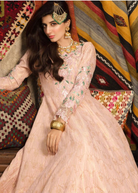 Saadia Asad Embroidered Jacquard Unstitched 3 Piece Suit SA18F 02 - Eid Collection