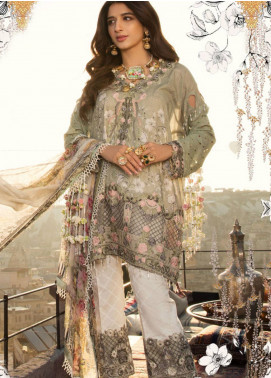 Saadia Asad Embroidered Lawn Unstitched 3 Piece Suit SA18F 03 - Eid Collection