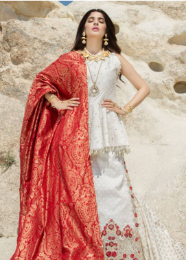 Saadia Asad Embroidered Lawn Unstitched 3 Piece Suit SA18F 06 - Eid Collection