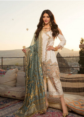 Saadia Asad Embroidered Lawn Unstitched 3 Piece Suit SA18F 07 - Eid Collection