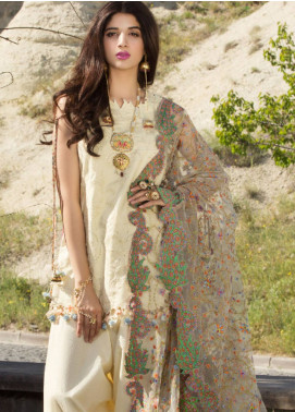 Saadia Asad Embroidered Lawn Unstitched 3 Piece Suit SA18F 08 - Eid Collection