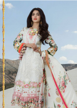 Saadia Asad Embroidered Cotton Net Unstitched 3 Piece Suit SA18F 10 - Eid Collection