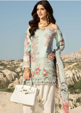 Saadia Asad Embroidered Lawn Unstitched 3 Piece Suit SA18F 11 - Eid Collection