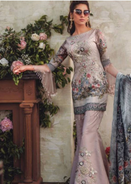 Noor By saadia asad Embroidered Lawn Unstitched 3 Piece Suit SA18L 14 BEJEWELED ROSE - Luxury Collection