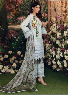 Sable Vogue Embroidered Lawn Unstitched 3 Piece Suit SV20SS 01 Palm Spring Bloom - Spring / Summer Collection
