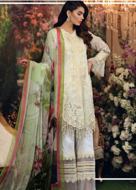 Sable Vogue Embroidered Lawn Unstitched 3 Piece Suit SV20SS 04 Mint Lily - Spring / Summer Collection