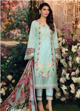 Sable Vogue Embroidered Lawn Unstitched 3 Piece Suit SV20SS 05 Camellia - Spring / Summer Collection