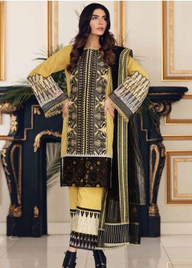 Sable Vogue Embroidered Lawn Unstitched 3 Piece Suit SV20SS 07 Monochrome Petals - Spring / Summer Collection