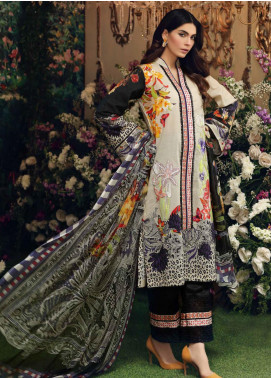 Sable Vogue Embroidered Lawn Unstitched 3 Piece Suit SV20SS 08 Tropical Plumeria - Spring / Summer Collection