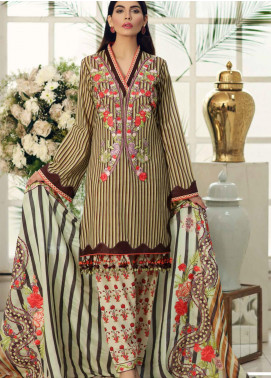 Sable Vogue Embroidered Lawn Unstitched 3 Piece Suit SV20SS 10 Hibiscus Red - Spring / Summer Collection