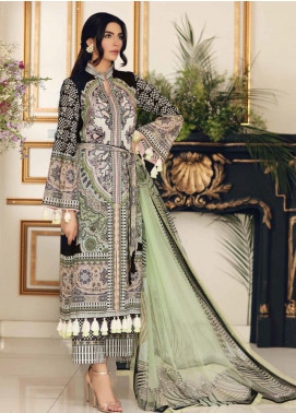 Sable Vogue Embroidered Lawn Unstitched 3 Piece Suit SV20SS 11 Geometric Bouquet - Spring / Summer Collection